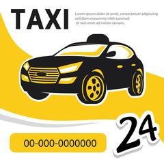 taxi template, car abstract vector