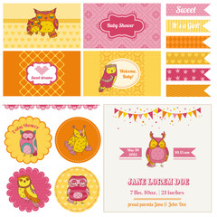 Baby Shower Owl Party Set