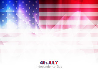elegant american flag theme background design.
