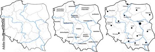 Polska Mapa Obrazów Stockowych I Plików Wektorowych Royalty Free W