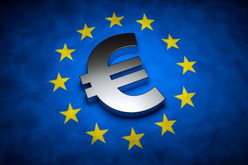 Eurofahne mit Eurozeichen