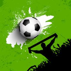 Grunge football / soccer crowd background