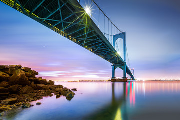 Canvas Prints Bridge Whitestone bridge at twilight