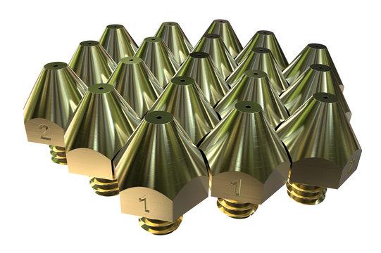 Extruder nozzles for 3D printer