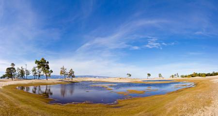 Olkhon Island. Sarayskiy Oasis. Panorama