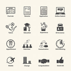 Employment Business Icons Set