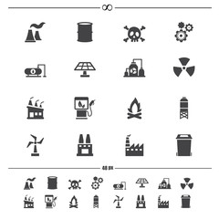 Factory icons.vector eps10