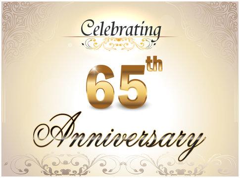 65 year anniversary golden label, 65th anniversary