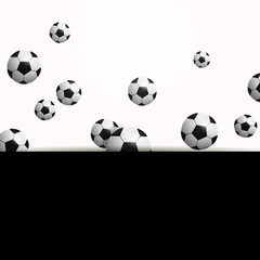 Vector Illustration of a Background with Soccer Balls