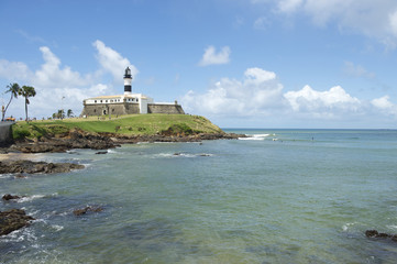 Salvador Brazil Farol da Barra Lighthouse Beach