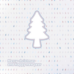 Merry Christmas festive tree background. + EPS8
