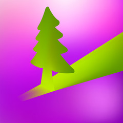 3D Christmas tree vector background. + EPS8