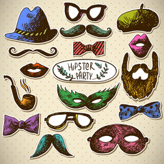 Hand Drawn Hipster Vector Design Elements