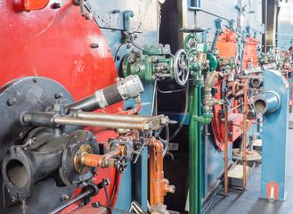 Inside a historic boiler house