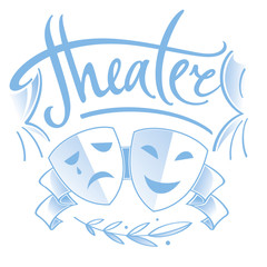 Theater - two masks, tragedy and comedy