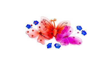 Schmetterlinge mit Blauen Steinen