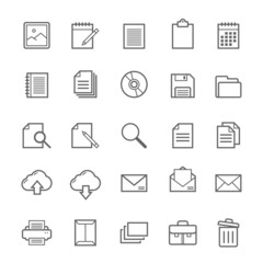 Set of Outline stroke document icon