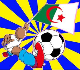 Aljazair  soccer player vector cartoon