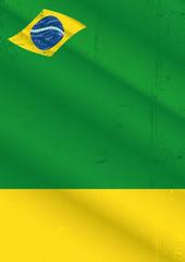 poster brazil grunge
