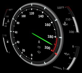 Speedometer illustration