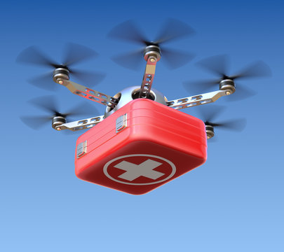 Drone with first aid kit