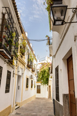 Streets in a white village of Andalucia, southern Spain