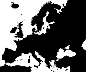High detailed vector map - Europe.