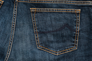 Jeans Texture - the back pocket