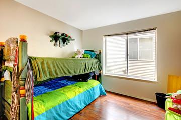 Kids room with antique loft bed