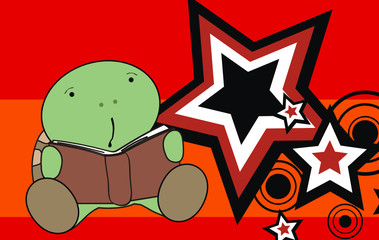 turtle baby cartoon reading wallpaper4