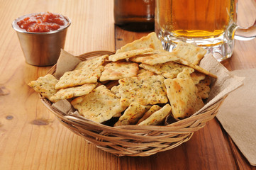 Crackers with beer