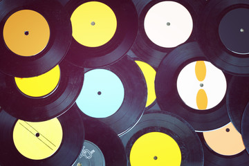 top view of many records