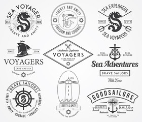 Sea Badges and labels
