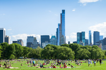 People resting in central park - New York - USA