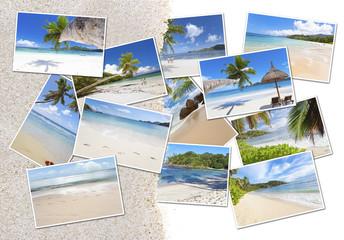 photos des Seychelles sous le sable