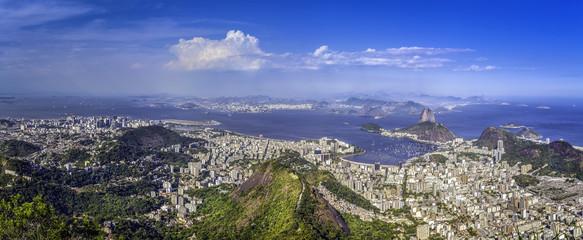 Panorama of Rio de Janeiro ,Brazil