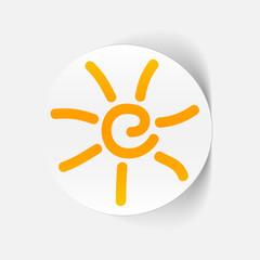 realistic design element: sun