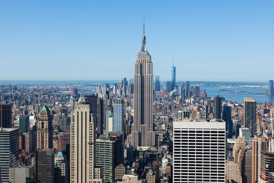Aerial view of Manhattan  in New York - USA