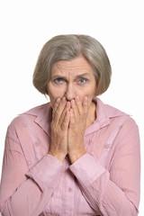Senior woman sad