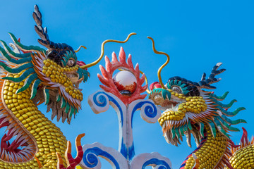 Chinese dragon statue art