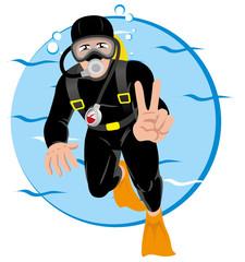 Person Scuba diving tourism