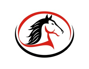 horse logo silhouette symbol icon