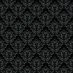 vector dark damask wallpaper. design elements. flower backdrop