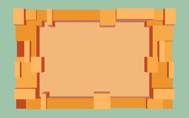 Empty abstract frame. Vector illustration