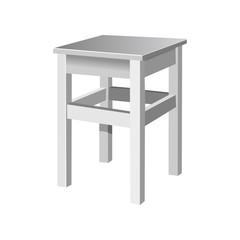 the stool. vector illustration