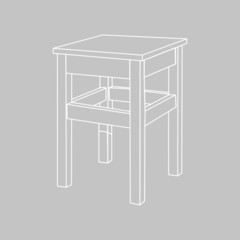 the stool. vector illustration