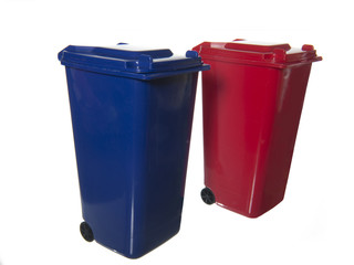 separate trash bins