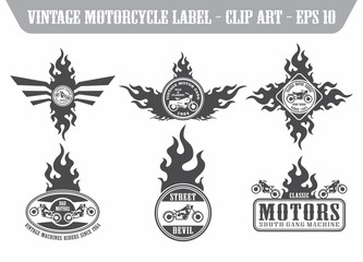 motorcycle art theme
