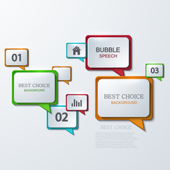 Vector modern bubble speech infographic