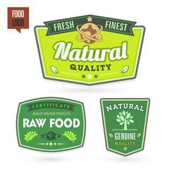 Set of organic-bio labels